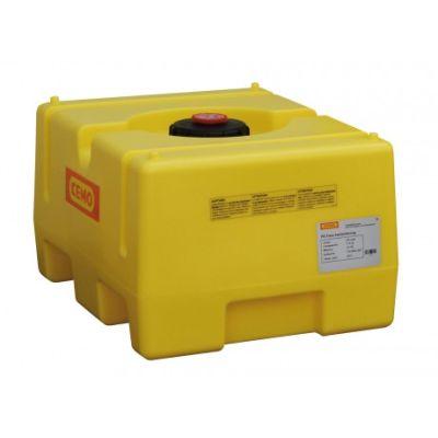 Box-shaped tank, PE, coloured yellow