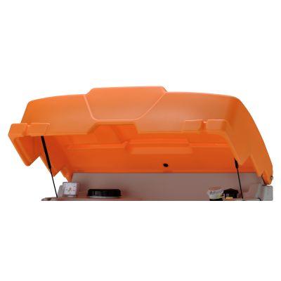 Hinged lid, orange