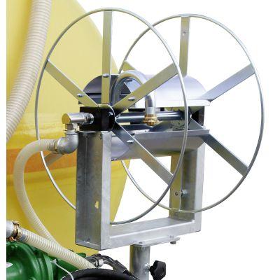 Swivel-mounted hose reel