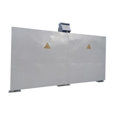 Folding fuel dispensing area,  for installation outdoors