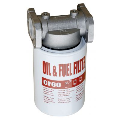 Oil, diesel and fuel filter with cartridge
