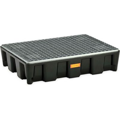 PE ground protection systems with galvanised grating