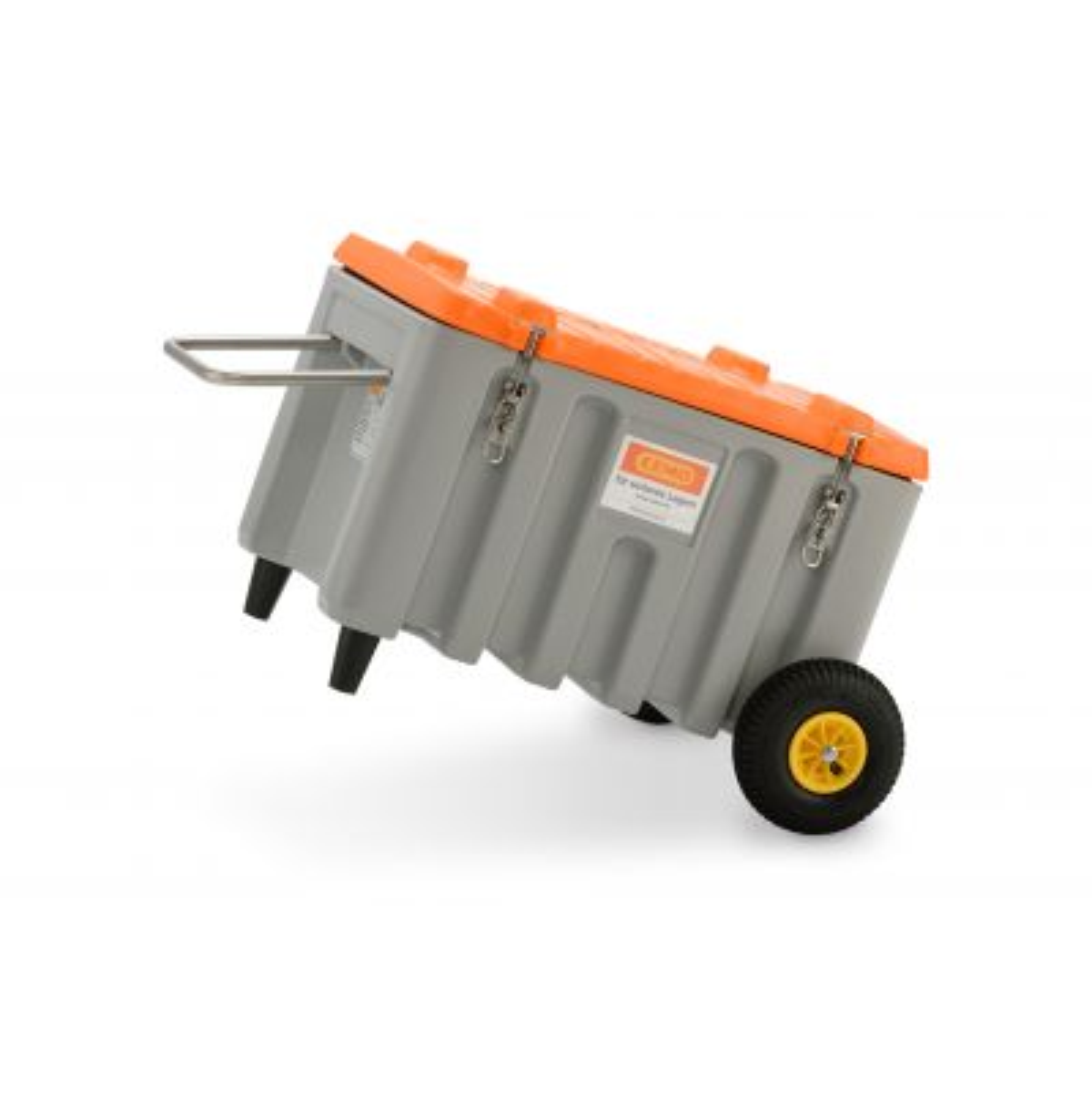 CEMbox Trolley 150 l, Offroad, grey/orange