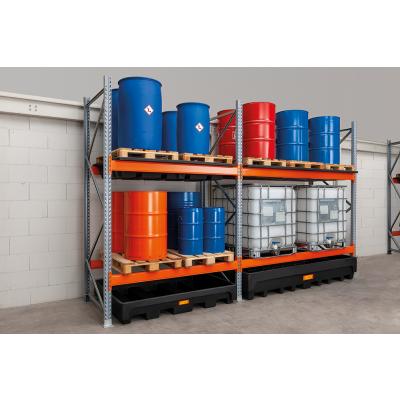 Add-on rack for HazMat pallet rack