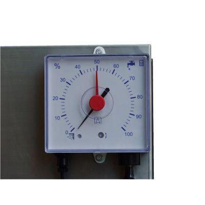 Pneumatic filling level indicator