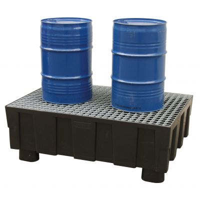 PE sump pallet 205/2 with 4 feet
