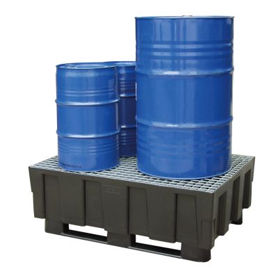 PE sump pallet 205/2 with 2 runners