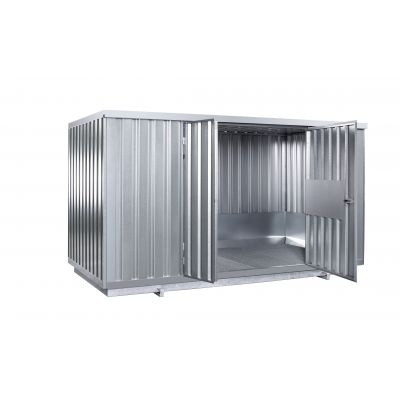 Safety storage container with natural ventilation