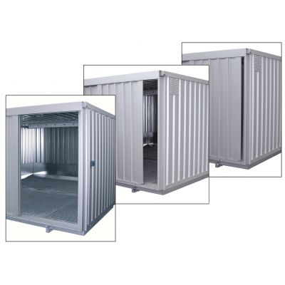 Safety storage container with sliding door and natural ventilation