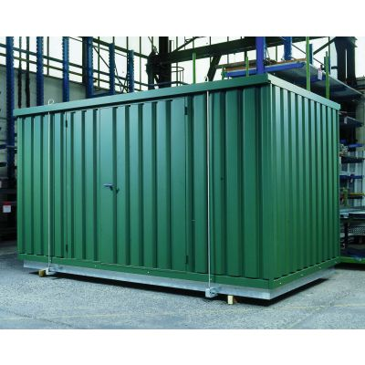 Safety storage container with heat insulation