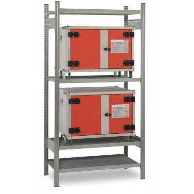 Rack for two cabinets