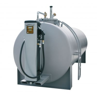 Steel tank with console for diesel dispensing pumps